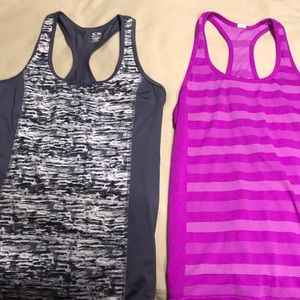 2 racerback workout tops size M from Target